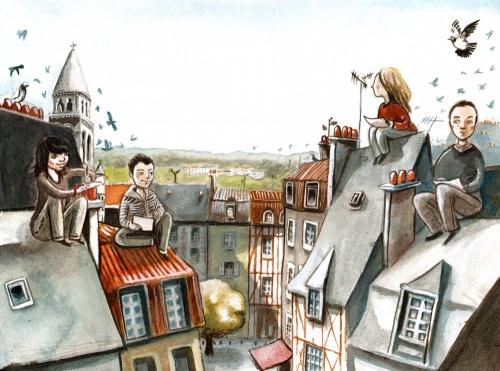 Les toits de Poitiers