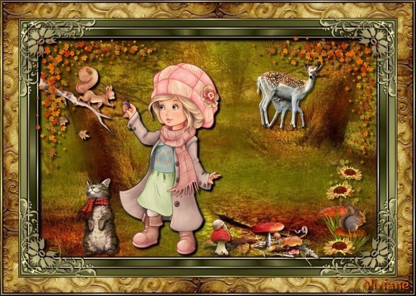 Jolie rencontre et vent d'automne