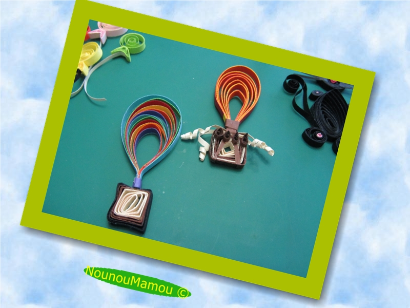 montgolfiere quilling
