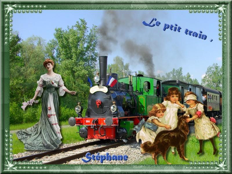 """Ce défi pour Marjolaine aller bon voyage """" Le p'tit train """""""