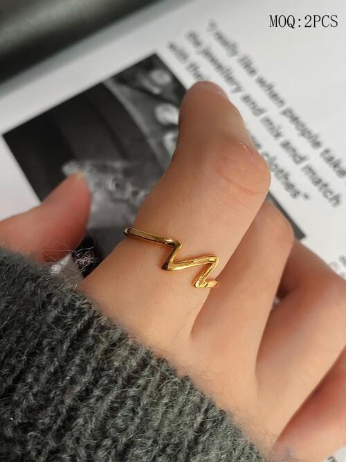 shestar wholesale simple 925 sterling silver lightning ring