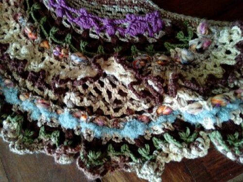 Robe Tissée Laine avec bustier Free Form Crochet n°1
