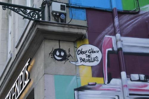 Street art à Bruxelles avec Angelina