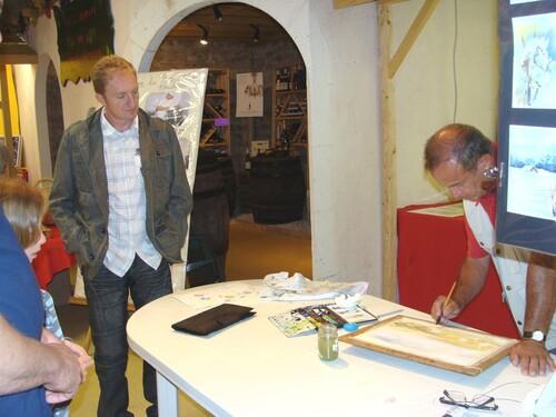 Alain Prinlein,aquarelliste à Marcenay le Lac