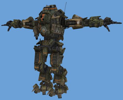 Le robot dans sa pose initiale