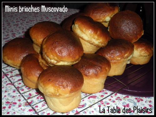 MINIS BRIOCHES MUSCOVADO