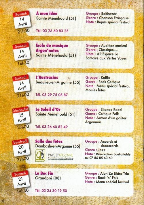 FESTIVAL LES BARS BARS 31 MARS/28 AVRIL