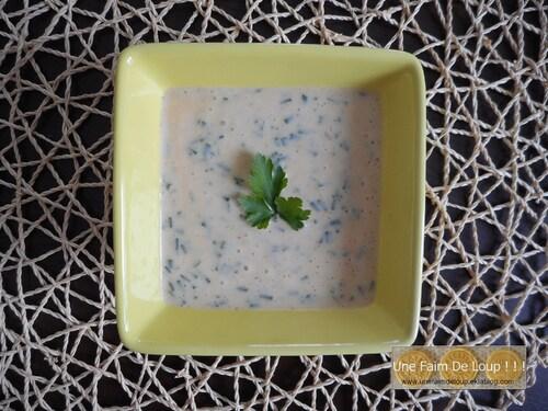 Sauce au yaourt pour salade et crudité