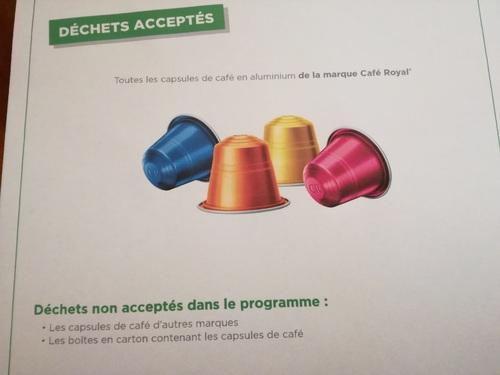 Petits de VIS : nouveau programme de recyclage CAFE ROYAL