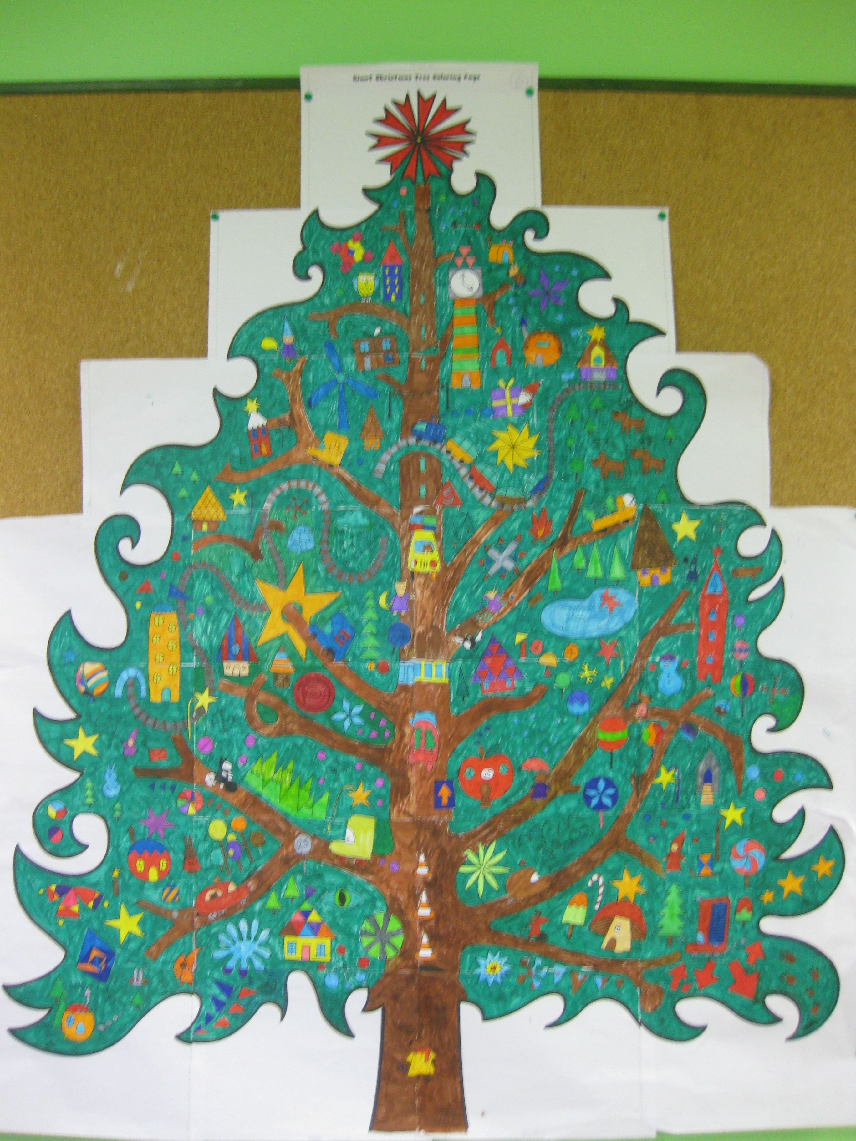 Le sapin g ant allycole - Sapin a colorier ...