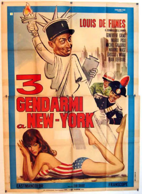 LE GENDARME A NEW YORK - LOUIS DE FUNES BOX OFFICE 1965