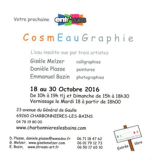 CosmEauGraphie: EXPO sur le thème de l'eau insolite à Charbonnières les Bains (69)