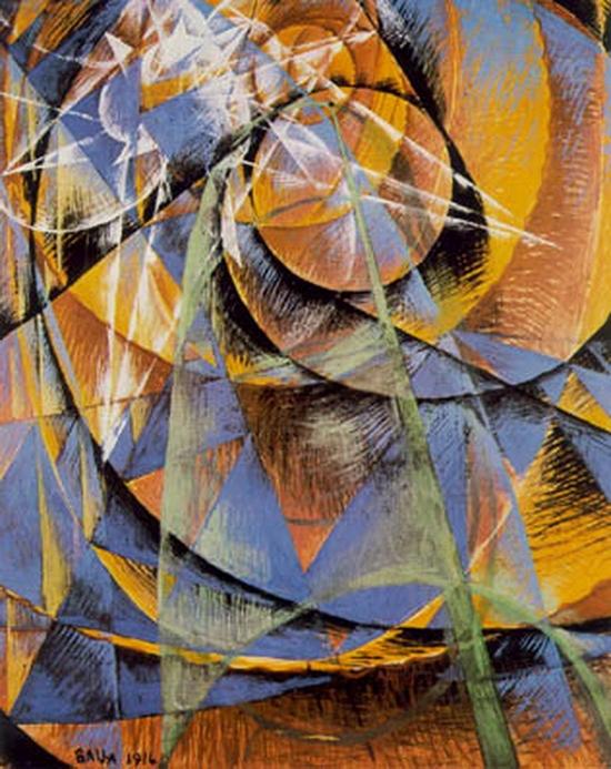 Giacomo Balla, Mercure passant avant le soleil, 1914