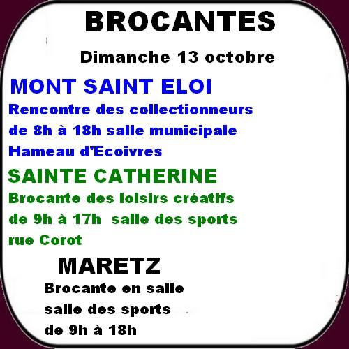 Les loisirs à ARRAS et ses environs 12 et 13 octobre.