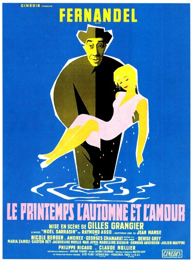 LE PRINTEMPS L'AUTOMNE ET L'AMOUR - BOX OFFICE FERNANDEL 1955