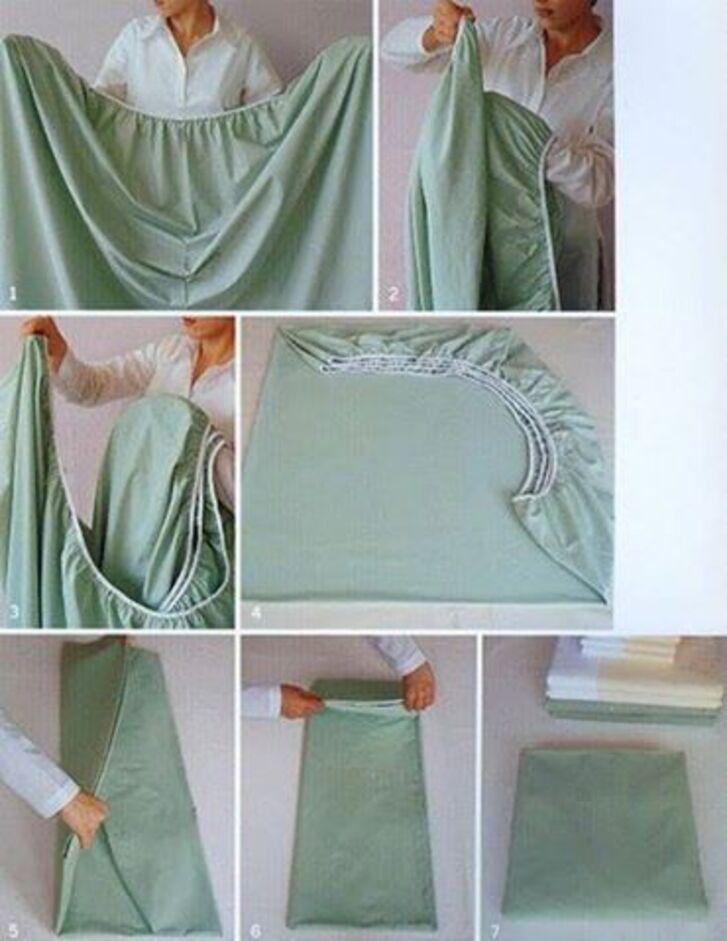 astuce pour plie un drap