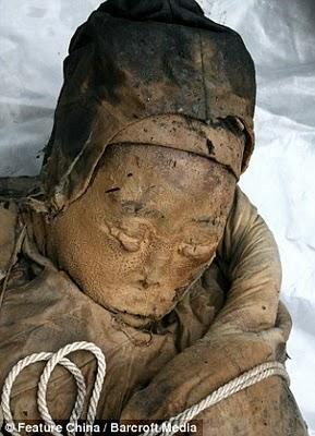 Découverte d'une momie en Chine