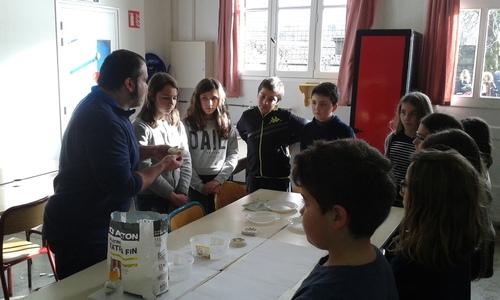 """Atelier """"moulages"""" au collège - 11/01/2018"""