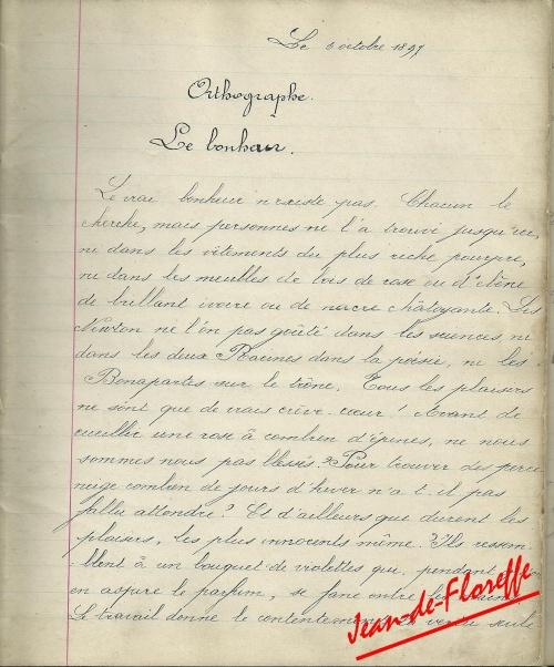 12. Le bonheur (devoir du 6/10/1897)