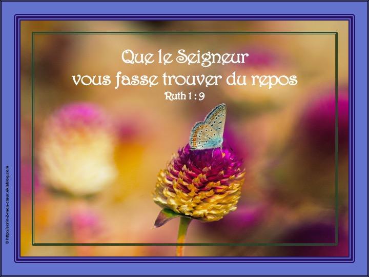 Que le Seigneur vous fasse trouver du repos - Ruth 1 : 9