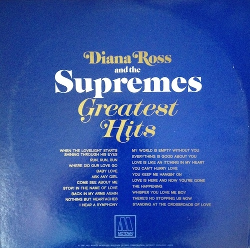 "Diana Ross & The Supremes : Album "" Greatest Hits "" Motown Records MS2-663 [ US ]"