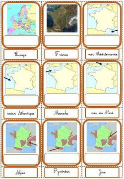 La France : relief et pays limitrophes