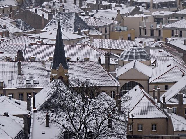 Metz sous la neige 2 Marc de Metz 2011