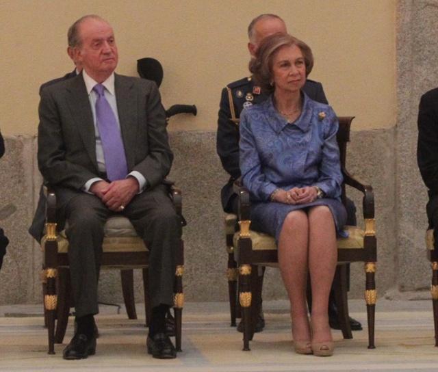 Sofia et Juan Carlos reçoivent