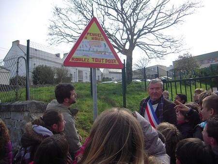 Inauguration des panneaux de Prévention Routière