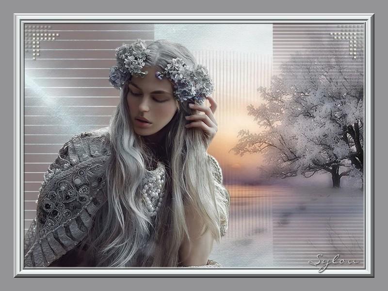 Femme en hiver  ღ