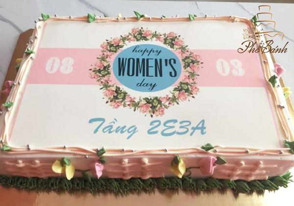 Bánh sinh nhật hình chữ nhật donaltrump