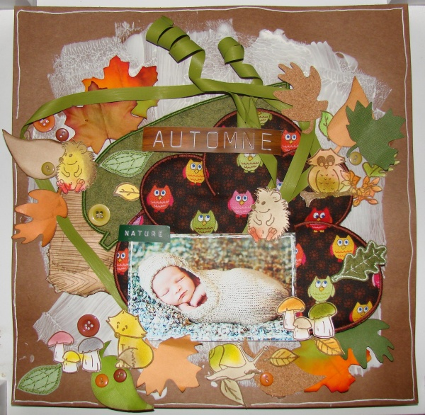 Page BB tricot avec la Scrap Box d'Octobre DDK.