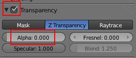 Transparency activé et Alpha sur zéro