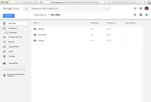 Sauvegarde et de Synchronisation de Google