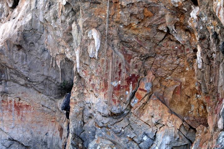 Art rupestre sur la Nam Ou, Laos 2019