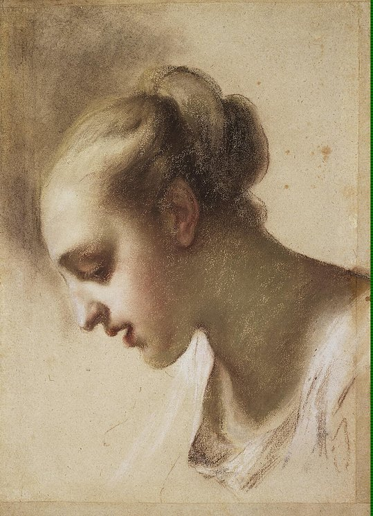 Portrait of a Young Woman. Study