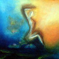 La femme est une oeuvre d'art - Acrylique et huile sur bois