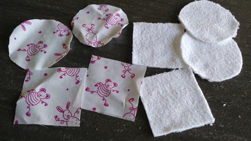 Tuto coton/lingette pour poupon de 30 cm