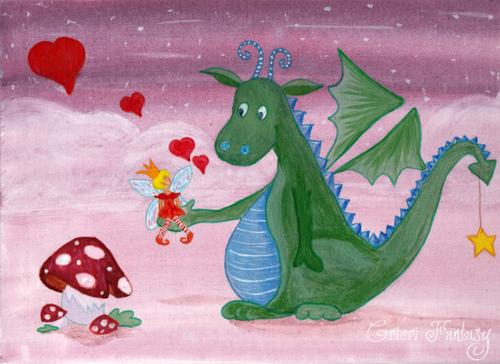 Le dragon et la fée