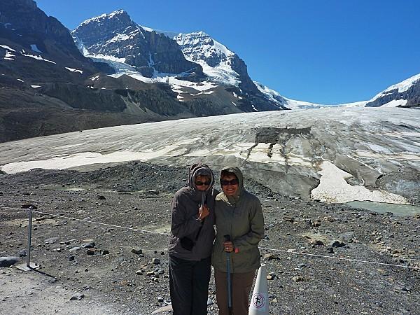 Jour 19 route des Glaciers Champ de Glace Columbia Nous