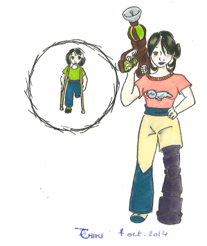 Un concept de personnage en cours
