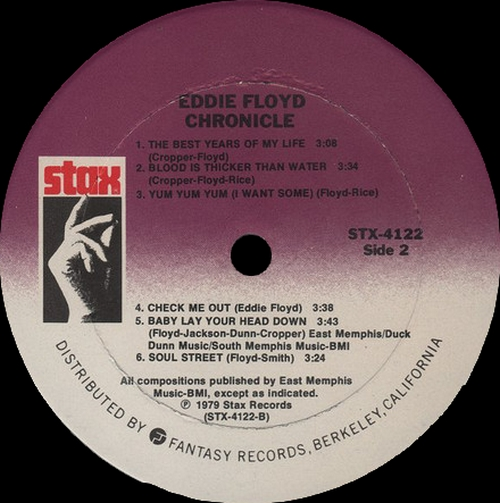"Eddie Floyd : Album "" Chronicle "" Stax Records STM 7005 [ UK ]"