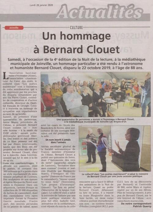 Hommage à Bernard Clouet (membre de l'AHME) décédé en octobre 2019.