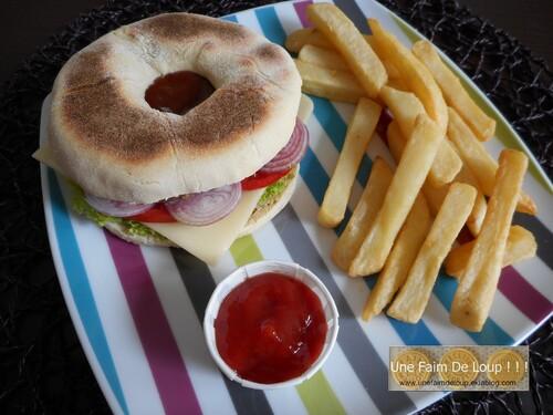 Muffin bagel burger