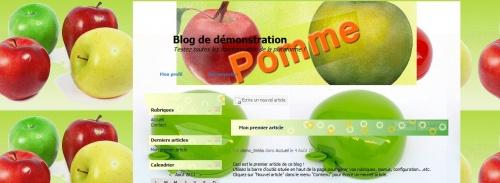 thème pomme