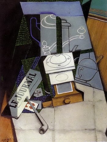 Juan Gris, Journal et moulin à café
