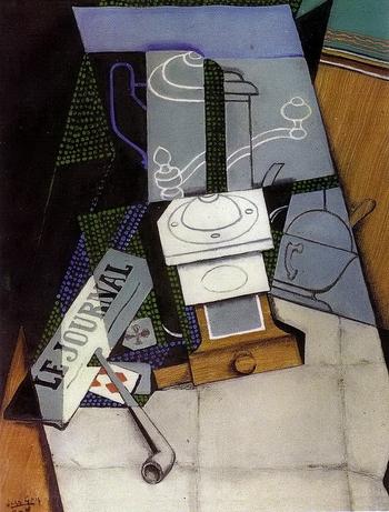 Juan Gris, Journal et moulin à café