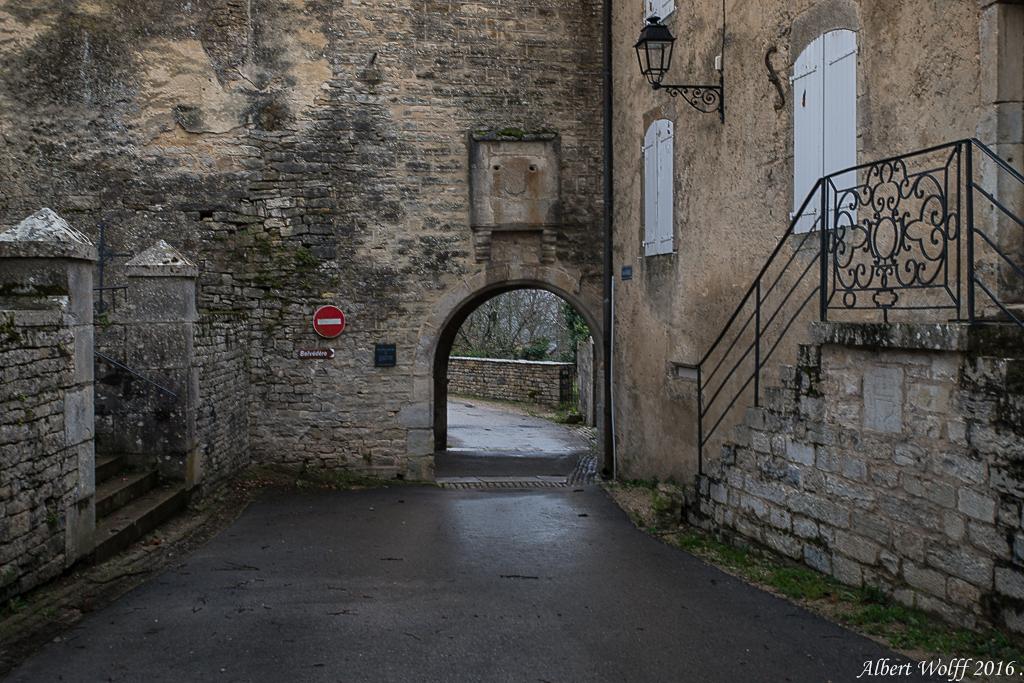 Pluie sur Château-Chalon