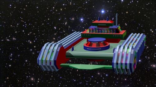 Spaceship #10 en format 1920par 1080