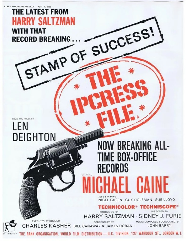 THE IPCRESS FILE BOX OFFICE 1965
